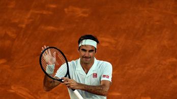 Federer három év után nyert újra salakon