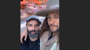 Jason Momoa és Oscar Isaac a belvárosban lazult szerda este