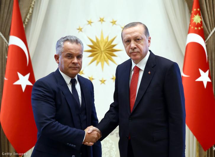 Vlagyimir Plahotniuc és Recep Tayyip Erdogan