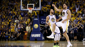 Az őskáosz végén a Warriors begyömöszölte a győztes kosarat