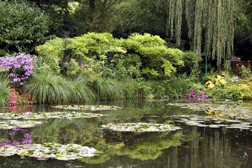 Ilyen a valóságban Monet gyönyörű virágoskertje: megelevenednek a festmények