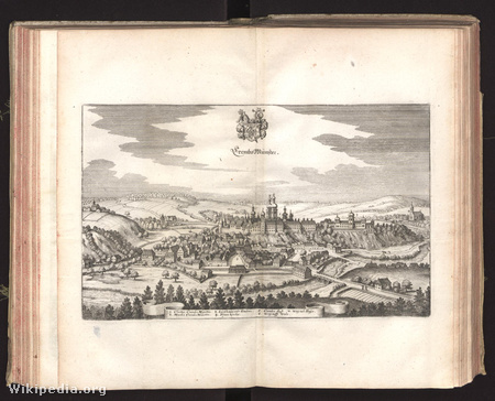 Az apátság ábrázolása 1679-ből