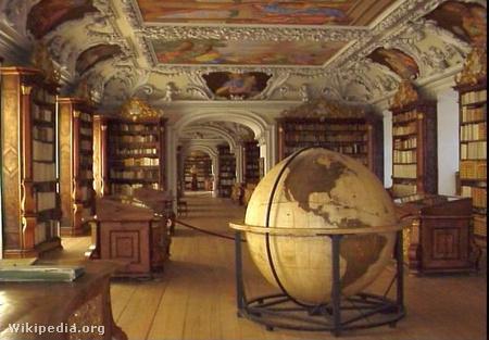 Az apátság könyvtára