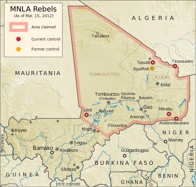 A tuareg lázadás 2012. március 15-én