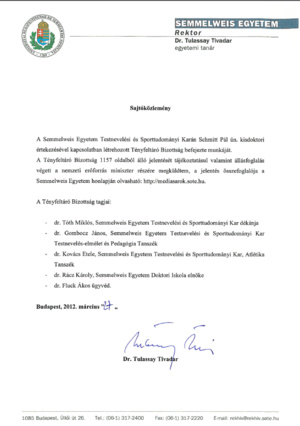A bizottság közleménye