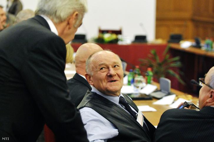 Schaffer Frigyes a Magyar Diaszpóra Tanács alakuló ülésén az Országházban 2011. november 17-én.