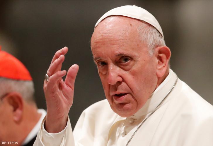 Ferenc pápa 2019. május 9-én.