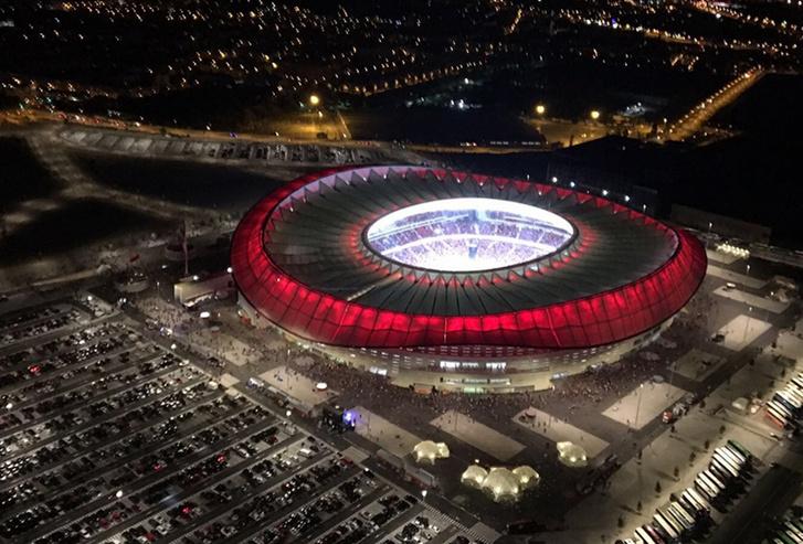 Az Atletico Madrid stadionja, a Wanda Metropolitano a döntő helyszíne