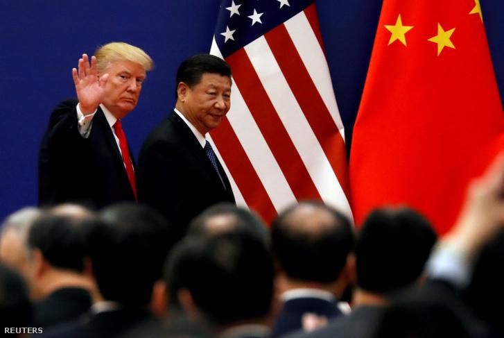 Donald Trump és Hszi Csin-Ping Pekingben 2017. november 9-én.