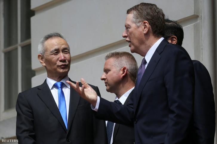 Liu He és Robert Lighthizer 2019. május 10-én.