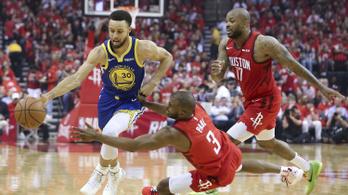 Curry atomgyenge félidő után rekorddal villant, kiejtették a Rocketsot
