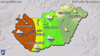 Viharos szélre, komoly zivatarokra figyelmeztet a meteorológia