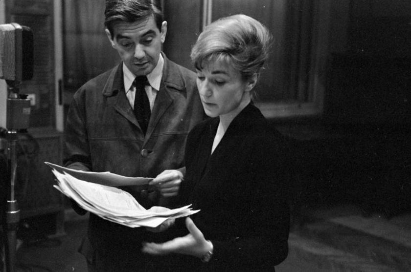 Gábor Mikós és Vass Éva 1963-ban, Leonhard Frank Karl és Anna című színművének rádióváltozatában.