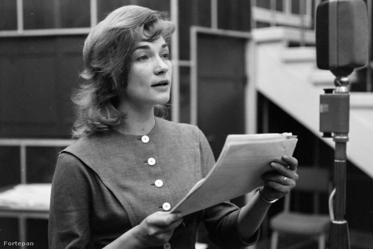 Vass Éva színművésznő Gábor Andor Doktor Senki című művének rádiójáték változatában 1963-ban.