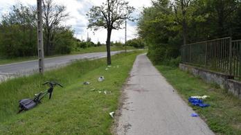 Nekiment a szembejövő biciklisnek, majd megállás nélkül elhajtott