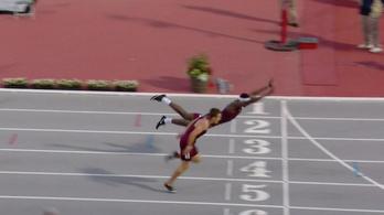 Mint Superman, úgy repült a célba az amerikai atléta