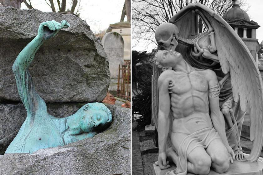 A világ legfurcsább szobrai: nem csoda, hogy temetőbe állították őket