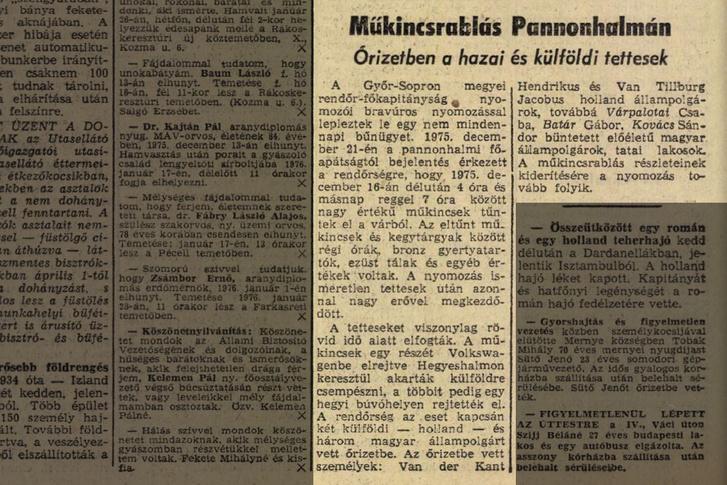 Magyar Nemzet, 1976. január 15.