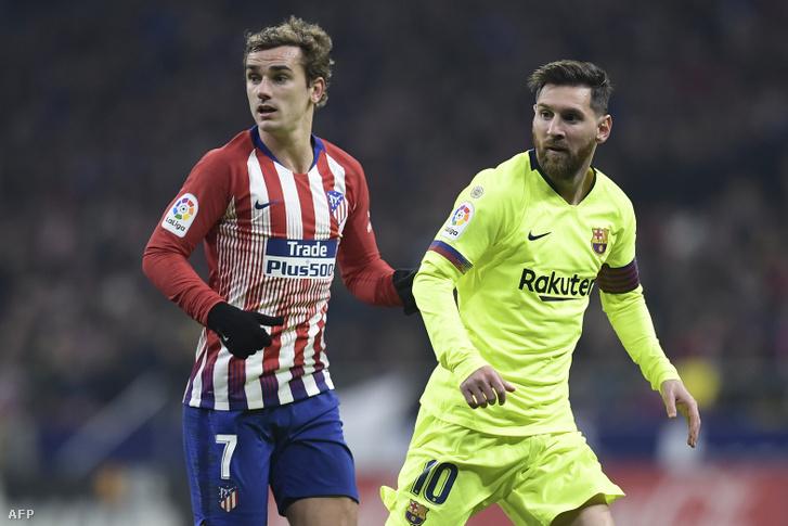Griezmann és Messi a tavalyi Atleti-Barcán