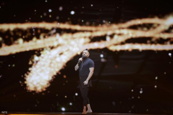 Pápai Joci az Eurovíziós Dalfesztiválon Magyarországot képviselõ énekes Az én apám címû dalt énekli a 64. Eurovíziós Dalfesztivál próbáján Tel-Avivban 2019. május 13-án.