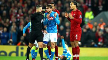 A BL-döntő bírója két meccsen háromszor tévedett nagyot a Liverpool javára