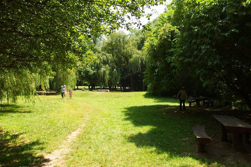 Több pihenőhelyet is kialakítottak a patak szomszédságában, így akár egy délutáni piknikre is remek helyszín.