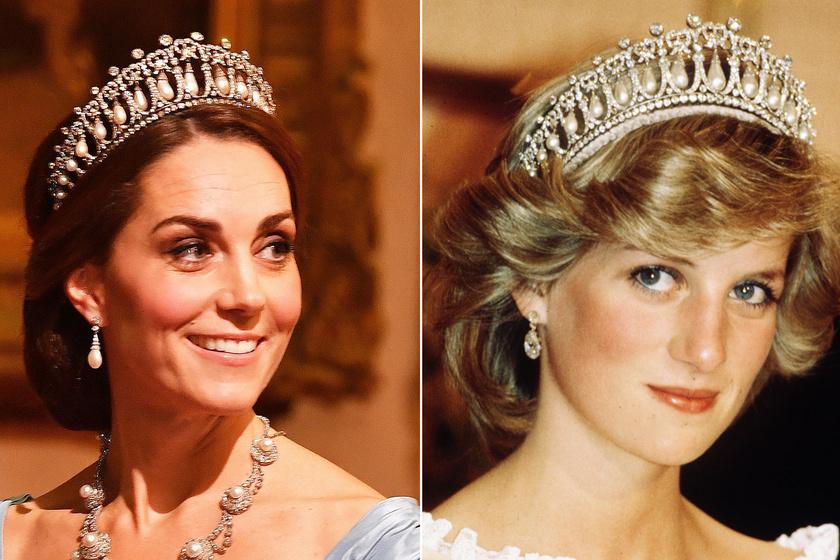 Katalin hercegné és Diana egyforma ruhában - Kin állt jobban a pöttyös darab?