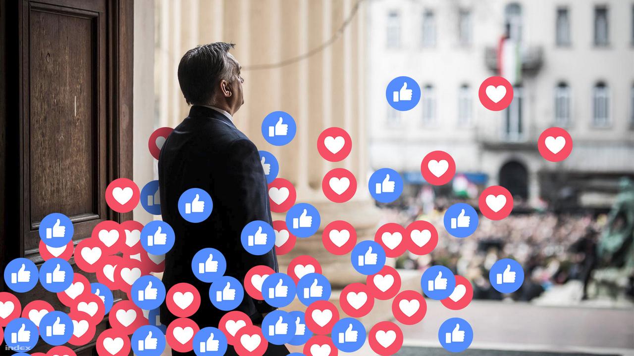 """A Fidesz Facebook-használatáról szóló cikkhez Szarvas egy hivatalos, Miniszterelnökség által kiadott fotót használt. """"Nagyon jól sikerült fotó"""" - teszi hozzá, az illusztráció lényege az volt, hogy úgy tűnjön, mintha a lájkok és a szívecskék löknék előre az útján a miniszterelnök urat."""