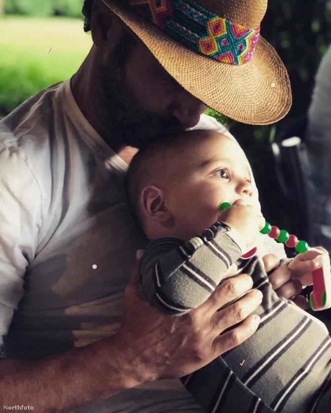 A színésznő a  férjéről és a gyerekéről is feltöltött egy meghitt közös képet