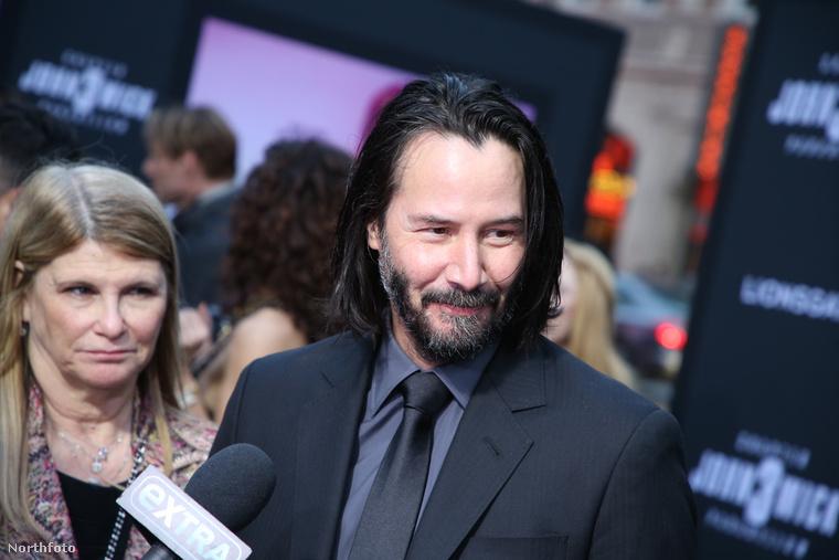 Természetesen jelen volt Keanu Reeves is, a film főszereplője