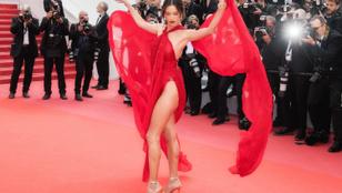 Alessandra Ambrosio nagyon keményen előadta magát Cannes-ban a vörösszőnyegen