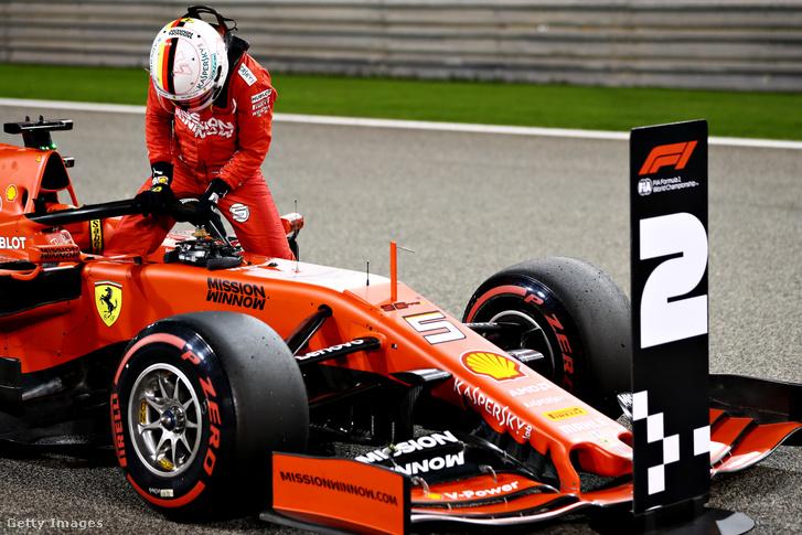 Sebastian Vettel a Bahreini Nagydíjon