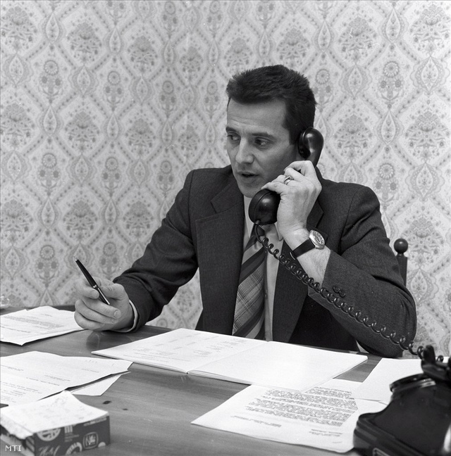 1976-ban a budapesti Astoria Szálló igazgatóhelyetteseként (Fotó: Danis Barna)
