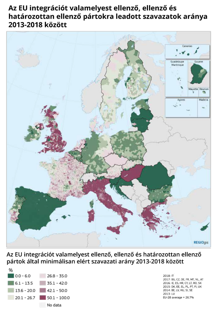 forrás: THE GEOGRAPHY OF EU DISCONTENT