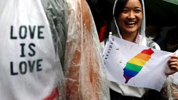Ázsiában elsőként, Tajvan megszavazta a melegházasságot