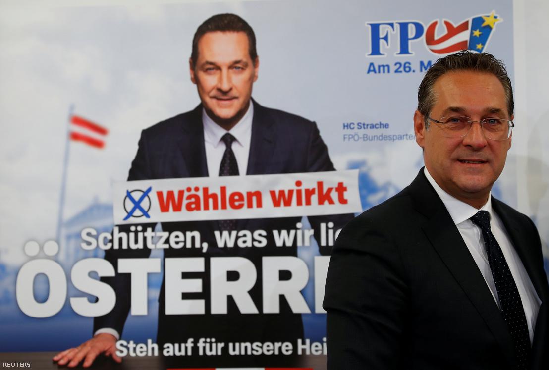 Strache bécsi sajtótájékoztatón 2019. április 23-án
