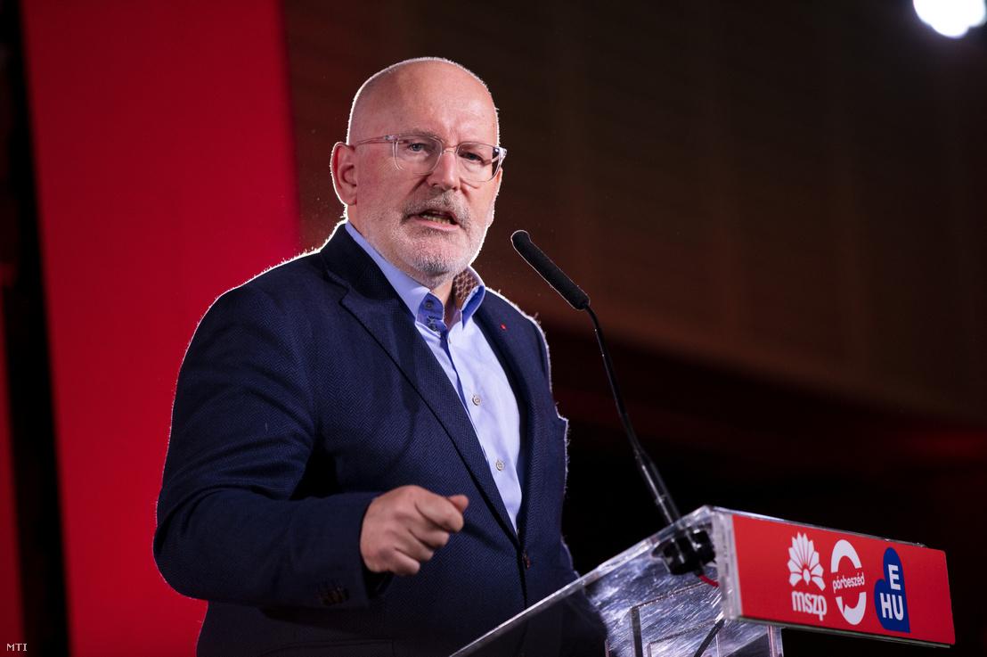 Frans Timmermans az Európai Szocialisták Pártjának csúcsjelöltje.