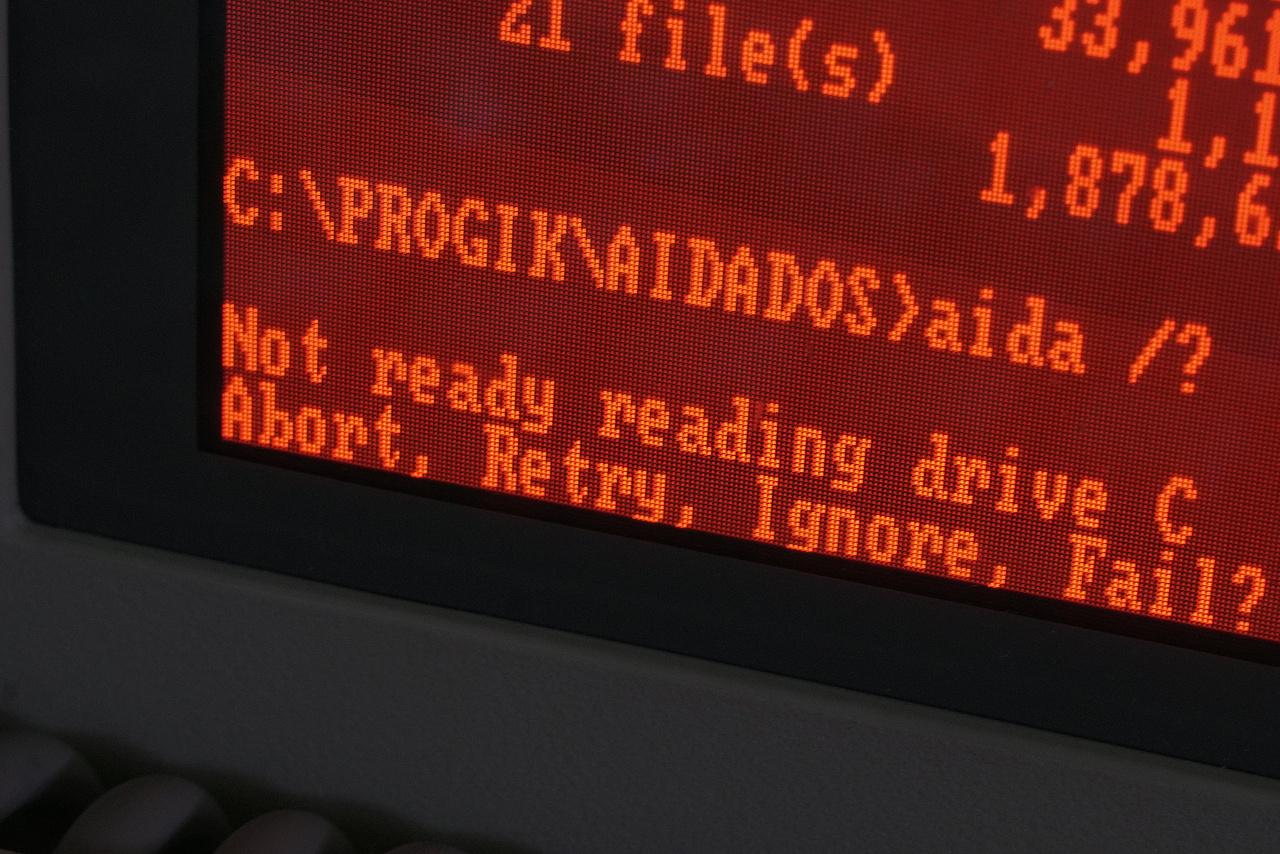Sokaknak lehetnek ismerősek ezek a DOS-os opciók: Abort, Retry, Ignore, Fail?