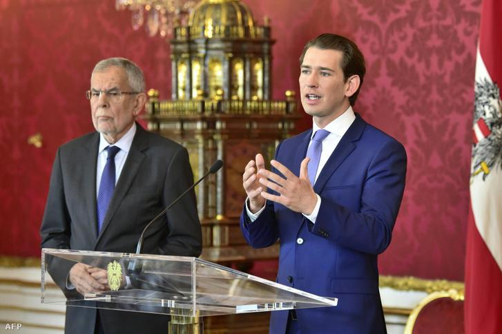 Alexander Van der Bellen és Sebastian Kurz