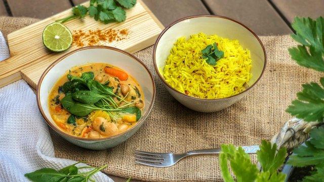 Egyszerű zöldségcurry vacsorára