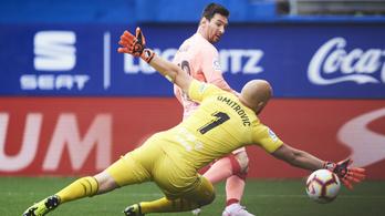 Messi két perc alatt kétszer is betalált, de csak döntetlenre volt elég