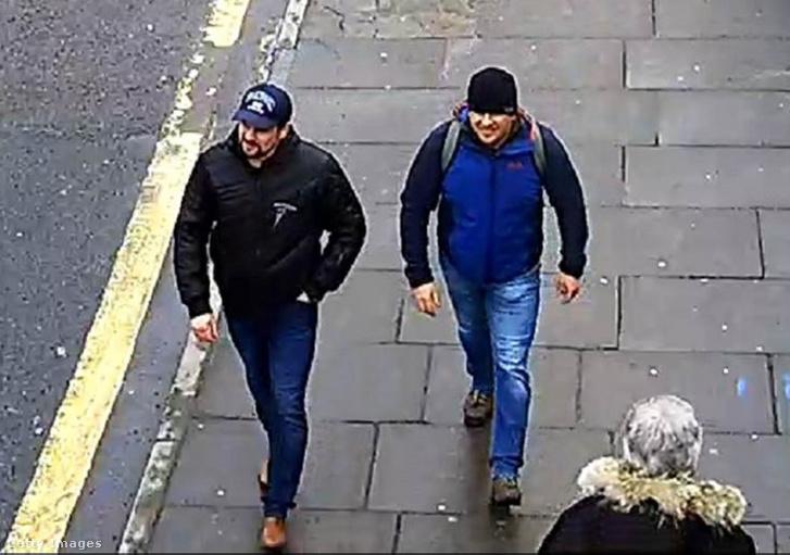 A két gyanusított egy biztonsági kamera felvételén
