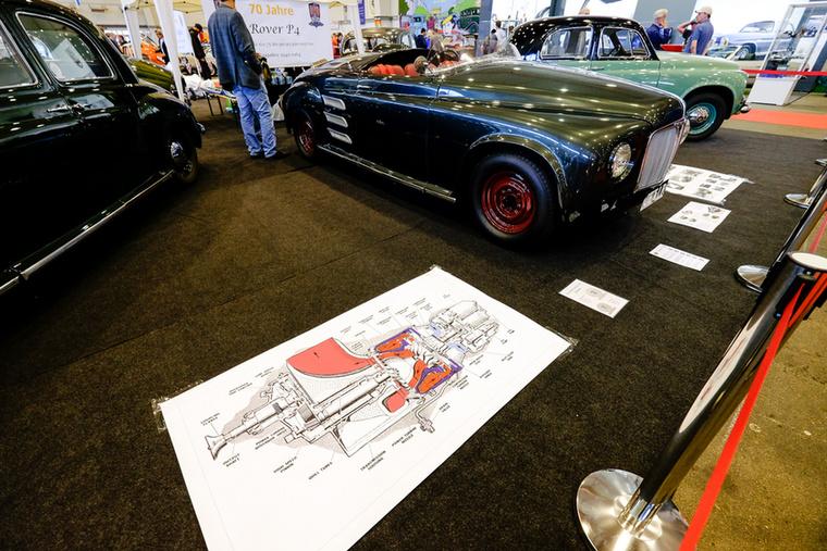 Igen, az a rajz egy gázturbina, és igen, mögötte az egy autó, amiben ilyen gázturbina adja a hajtást