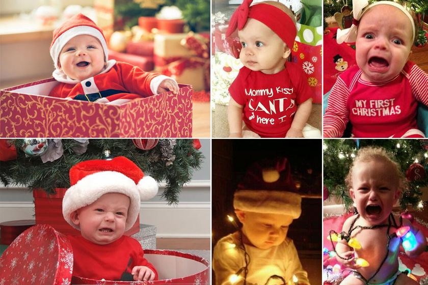 Cuki karácsonyi képnek indult, de jobb lett volna nem elkészíteni: 10 babafotó, amit nem így akartak