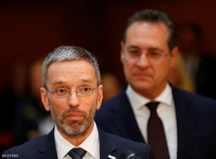 Herbert Kickl és Heinz-Christian Strache