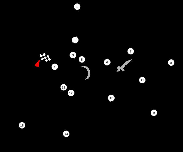 A zandvoorti versenypálya jelenlegi vonalvezetése