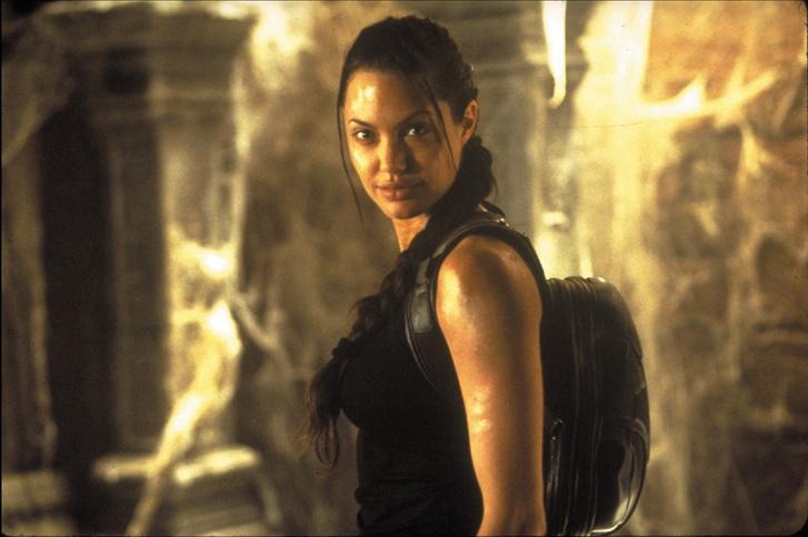 Angelina Jolie a 2001-es Tomb Raiderben