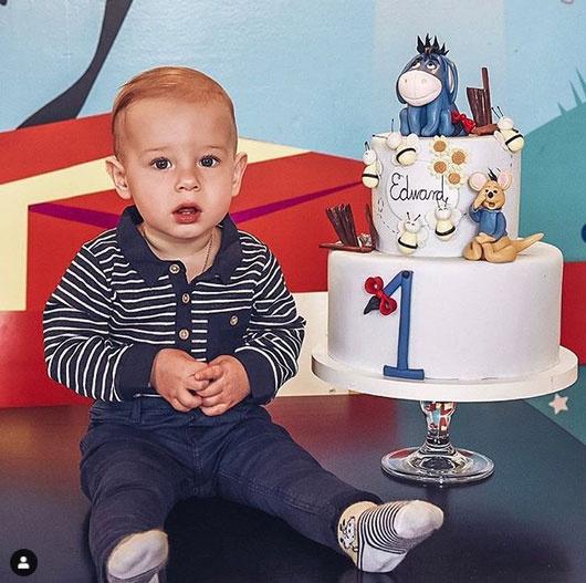 Vasvári Vivien és Szegedi Ferenc kisfia, Edward Ferenc április 22-én ünnepelte az első születésnapját.