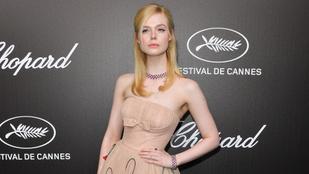 Elle Fanningre annyira szűk volt ez a ruha, hogy elájult Cannes-ban a díszvacsorán