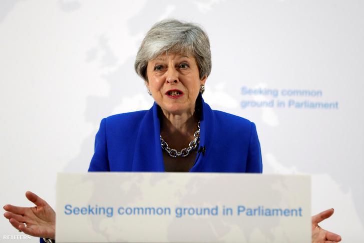 Theresa May élő beszéde Londonban a brexitről 2019. május 21-én.